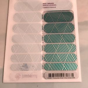 Jamberry Wrap- Turquoise Criss Cross